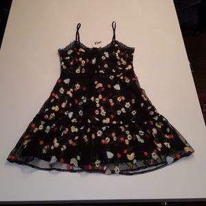 BB Dakota Floral Spaghetti Strap Mini Dress